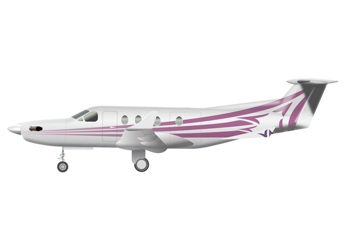 Pilatus PC 12 / PC 12 NGPassengers (typical): 7Cabin Height: 4.8 ftCabin Width: 5.0 ftCabin Length: 16.9 ftBaggage total: 34 cu ft / 40 cu ftAverage Cruising Speed: 260 KTAS / 262 KTASMax Cruising Altitude: 30,000 ftFull Passenger Range: 1,340 NM / 1,309 NMLavatory: Yes, depending on the configurationGalley: Limited - © 2018, Conklin & de Decker Associates, Inc.
