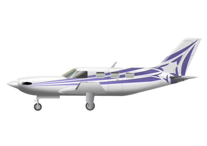 Piper M500Passengers (typical): 5Cabin Height: 3.1 ftCabin Width: 4.2 ftCabin Length: 10.2 ftBaggage total: 20 cu ftAverage Cruising Speed: 260 KTASMax Cruising Altitude: 30,000 ftFull Passenger Range: 213 NMLavatory: NoGalley: No - © 2018, Conklin & de Decker Associates, Inc.