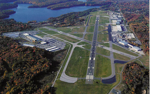 Westchester County Airport, White Plains,New York is just north of Manhattan and a relatively congestion-free alternative to NYC. There are restrictions on airline access and general aviation flourishes.