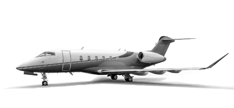 The Bombardier  Challenger 350  is a super-midsize jet.