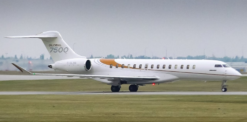 Bombardier Global 7500 is that firm's latest entry in the competition for the business jet with the most range.
