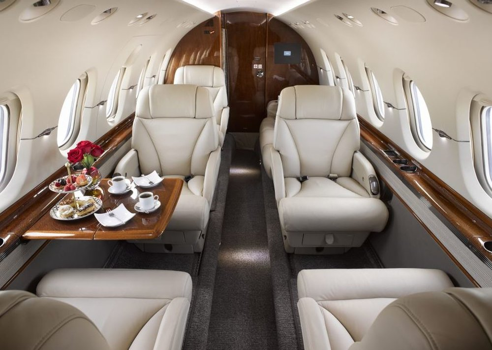 The Hawker 850XP features a redesigned interior