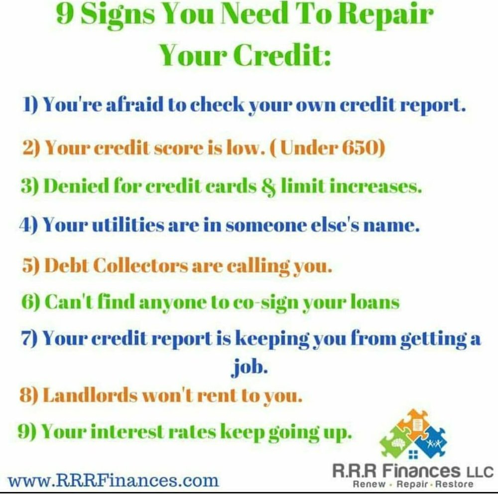 RRR Finances 9 Signs You Need To Repair Your Credit .jpg