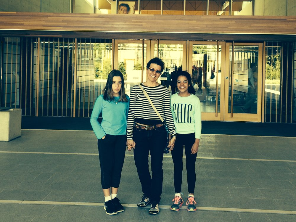 Claudia with her daughters enjoying Canberra