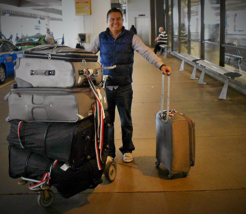 Roberto arriving in Australia