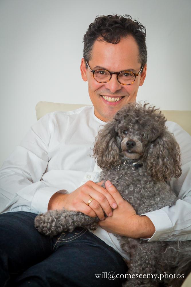 Frank with his loyal dog, Simon