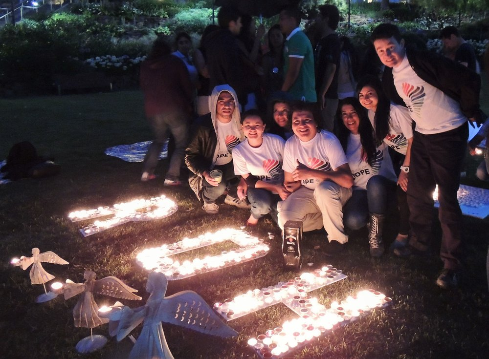 Angelica with ROH participating at 'Light up your wish Candles Night' (December 2013)