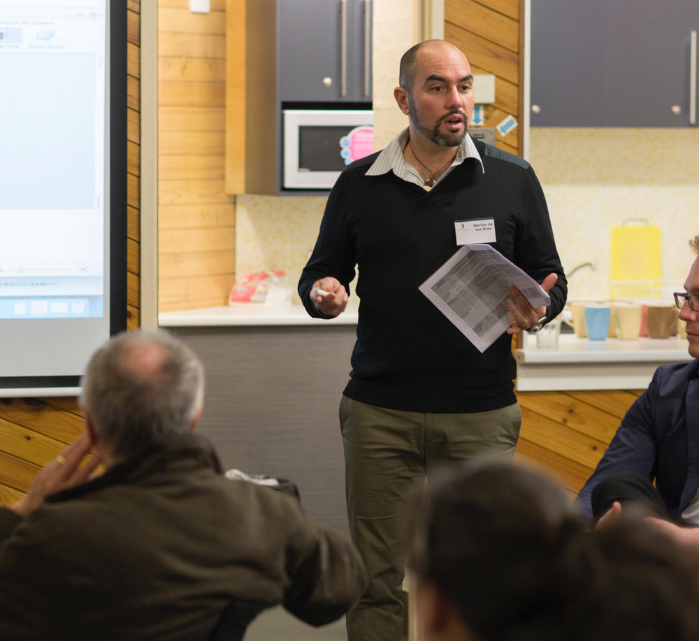 Martin facilitating a co-design session for a library redevelopment. Photo by Michael Holt 2015.