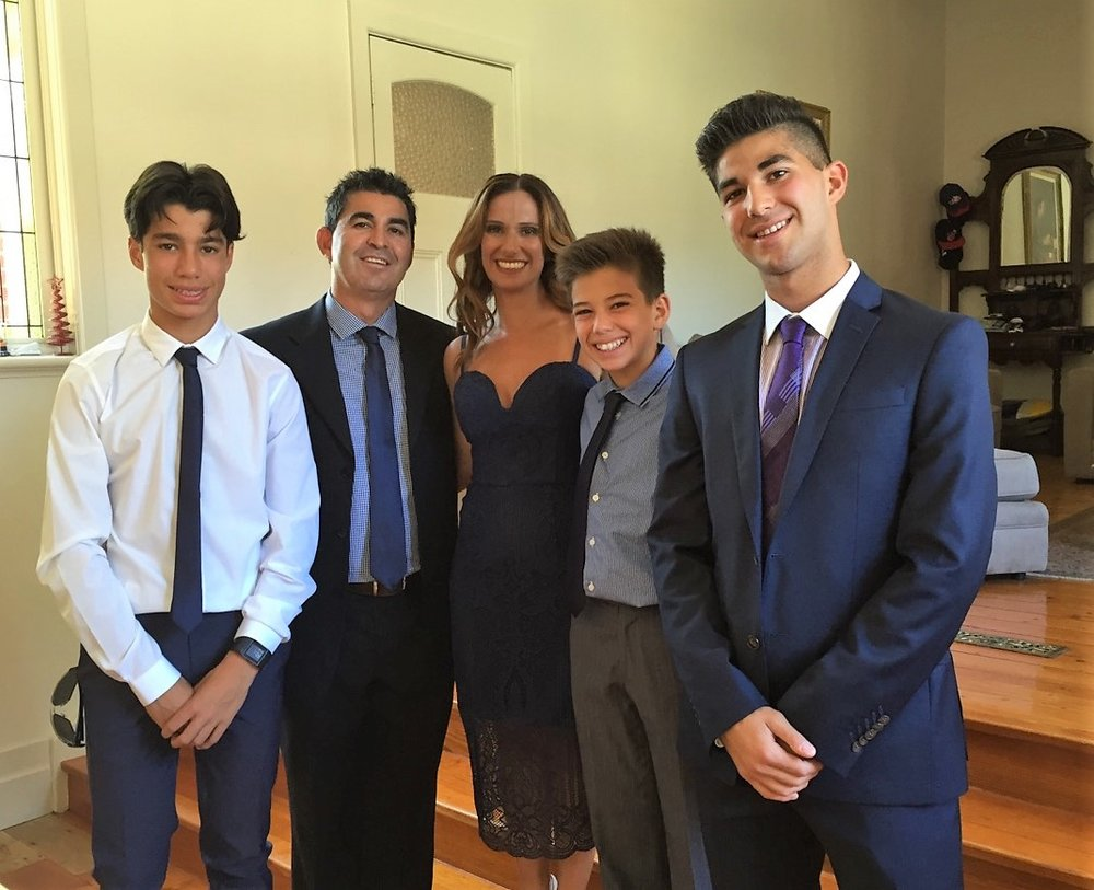 Jose and Enza with their sons Michael, Daniel y Joseph -