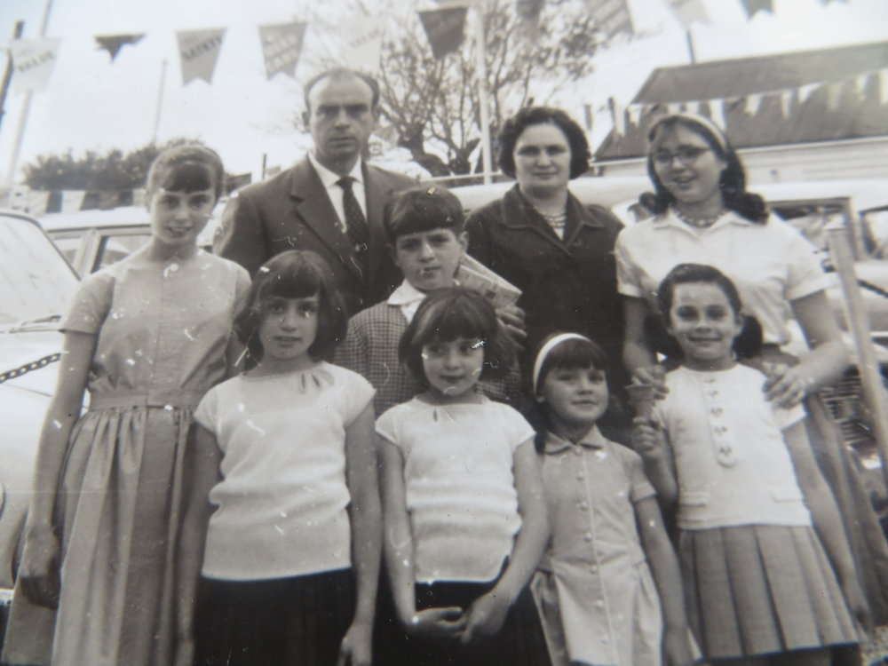 Family photo in 1963 shortly after arrival. -