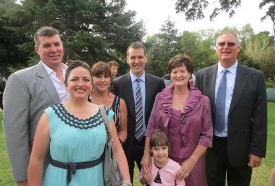 Eliana with her Australian family