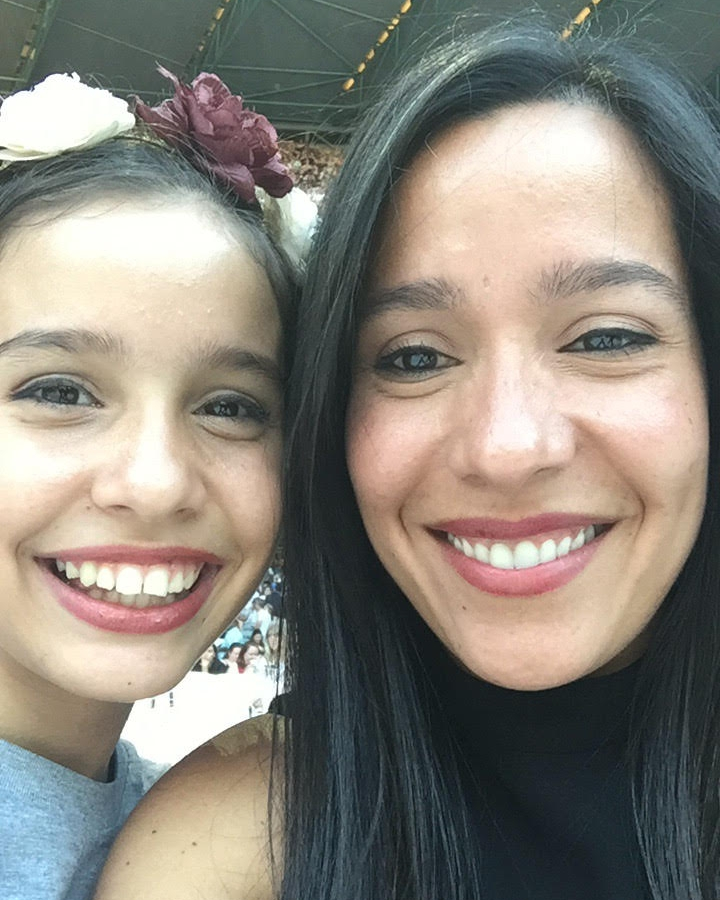 Mom and daughter selfie