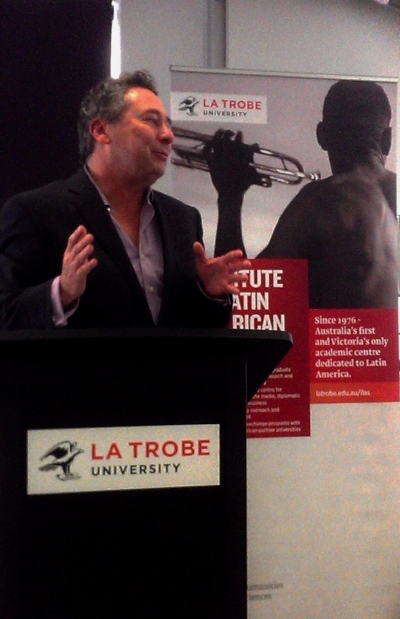 Victor presenting at the Institute of Latin American Studies (ILAS) at La Trobe University in Melbourne
