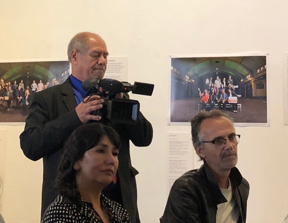 "Julio covering the ""Building Bridges"" exhibition event, November 2018"