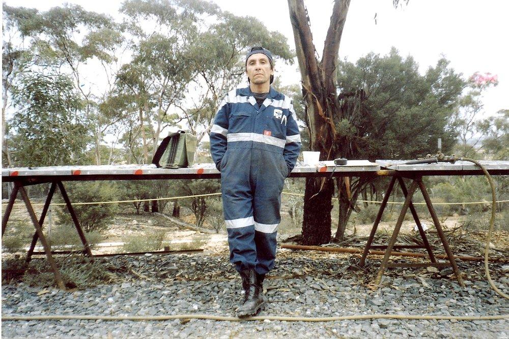Roberto working in exploration - On core-yard duties