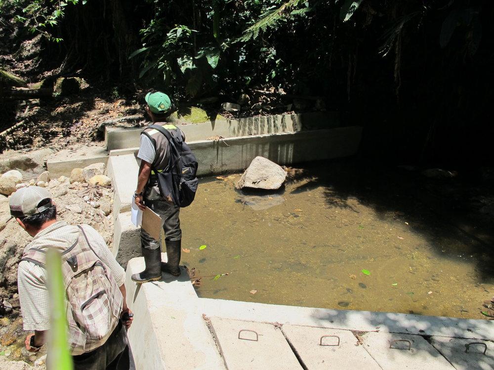 La trecera toma de agua, un proyecto de El Rincón que la comunidad no está ultilizando.