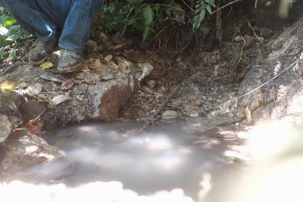 La presa de agua dondé pondrá la toma.