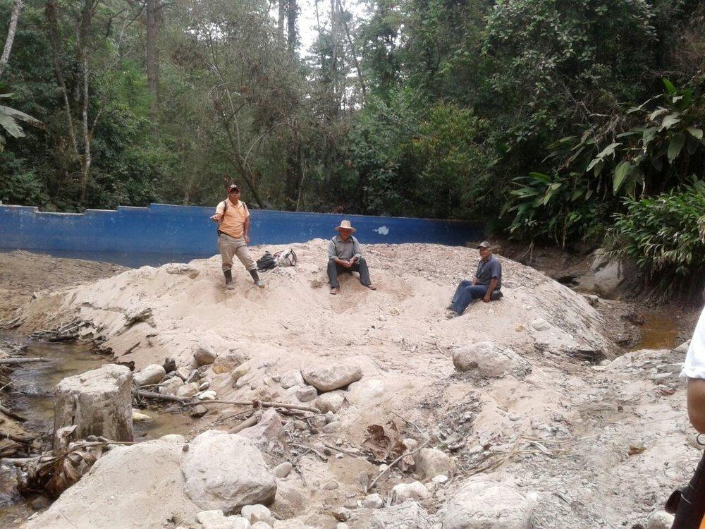Toma de aguas de Siguatepeque, la ultima toma abajo la segunda quebrada