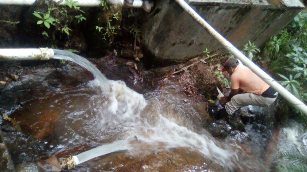 La tereca toma de agua de la segunda quebrada de El Achiote y La Tigra