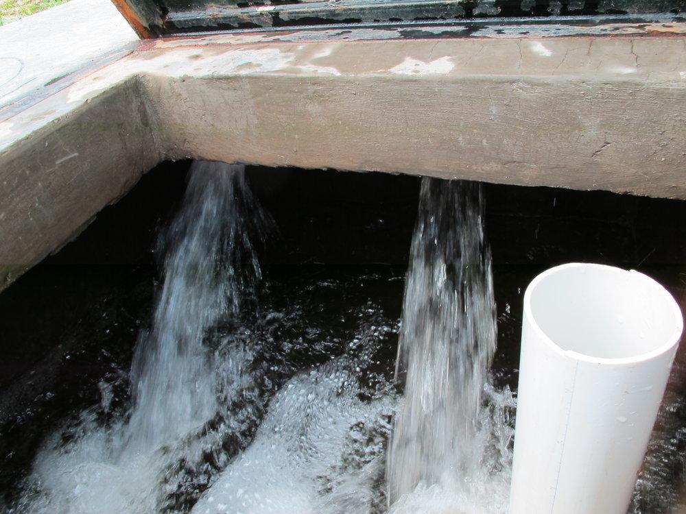 El rompecarga de Potrerillos y Paso Hondo. El agua de aqui va al tanque de Paso Hondo