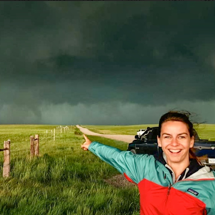 Melody Sturm - Your tour guide on this adventureExperience: 2 storm chases since 2017Send me an email