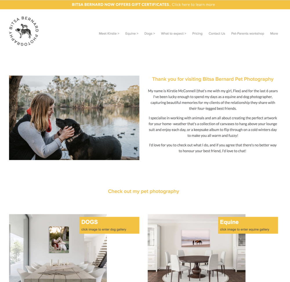 Kirstie's New Home Page - Now with text for Google to read