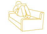 Göra kursen liggandes i soffan eller sittandes vid köksbordet