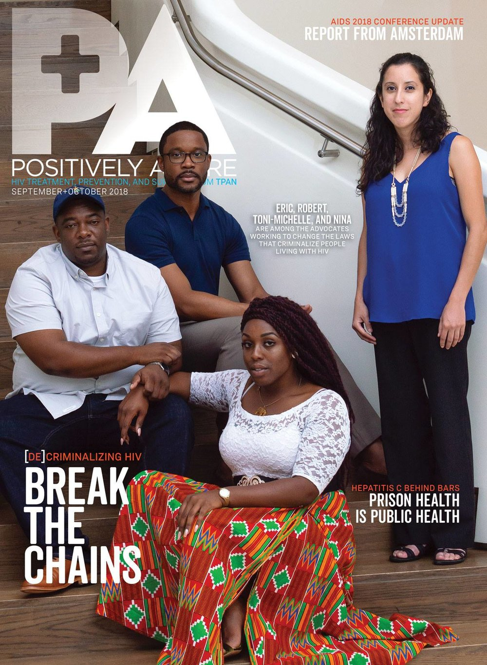 Johnnie Ray Kornegay III captured this image for Positively Aware Magazine. (From L to R: Toni-Michelle Williams, Eric Paulk, Robert Suttle and Nina Martinez are featured.)