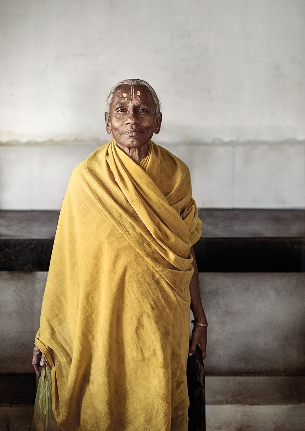 widow of vrindavan :: yellow sari.jpg