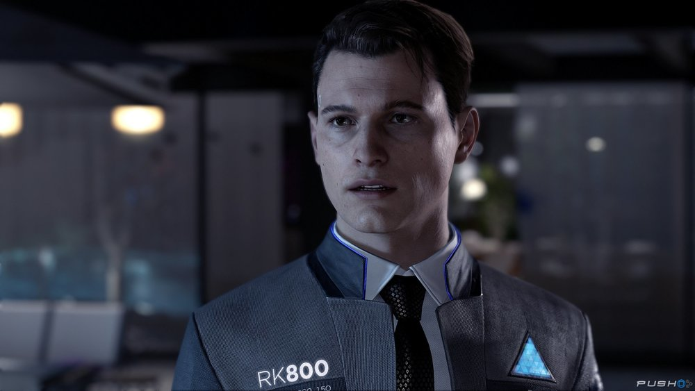 Connor: The Detective - This guy here, is my favorite character in the game. I think you get the chance to say  witty, asshole cop remarks, and I loved it! I found myself speeding through the other two characters stories to find out what happens to him next. If you are a fan of cop shows or movies at all, I think you will have a similar opinion as me. You work as an assistant to the main detective on the android case, Hank, who is a bitter old cop who hates androids, go figure. I think it makes for some funny banter, and a bittersweet ending. Ultimately, the choice is yours, make Conner a total dick if you want to, see how it affects your story. Just remember, you can always replay it if you don't like the outcome. Or just keep going, you'll earn a trophy either way.