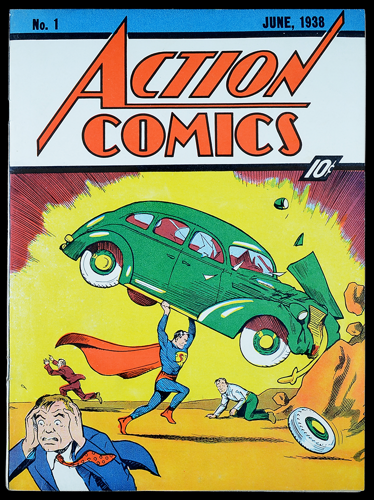 The creation of Superman in 1938
