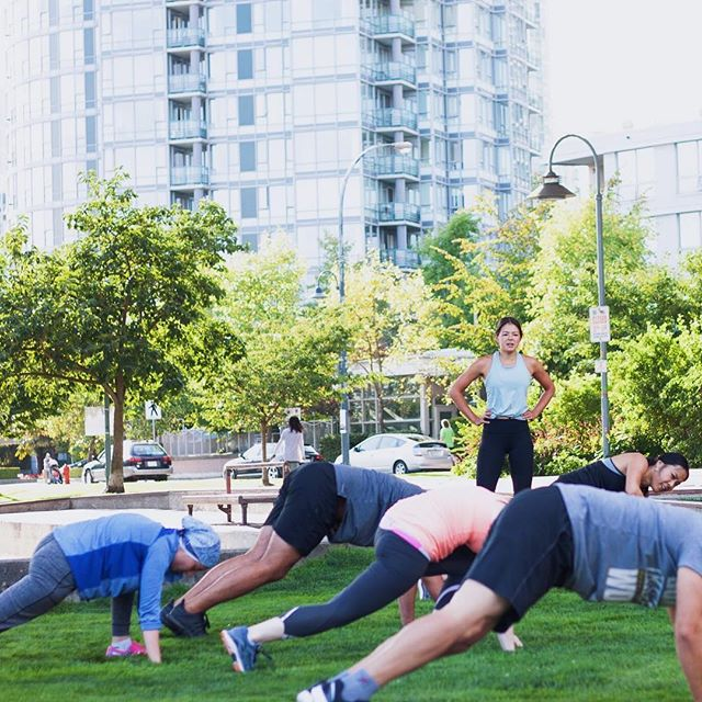 #tbt to sunny Vancouver training sessions in Yaletown. 😎 Does anyone know about this new outdoor workout area the city is talking about building?