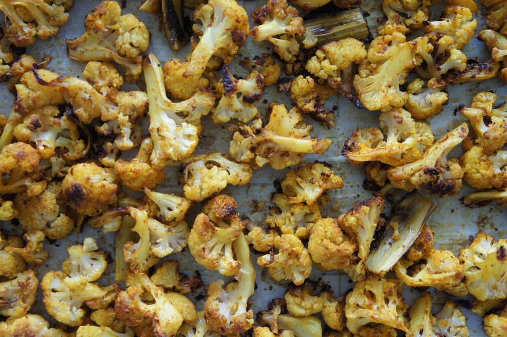 Slow Roasted Golden Masala Cauliflower -