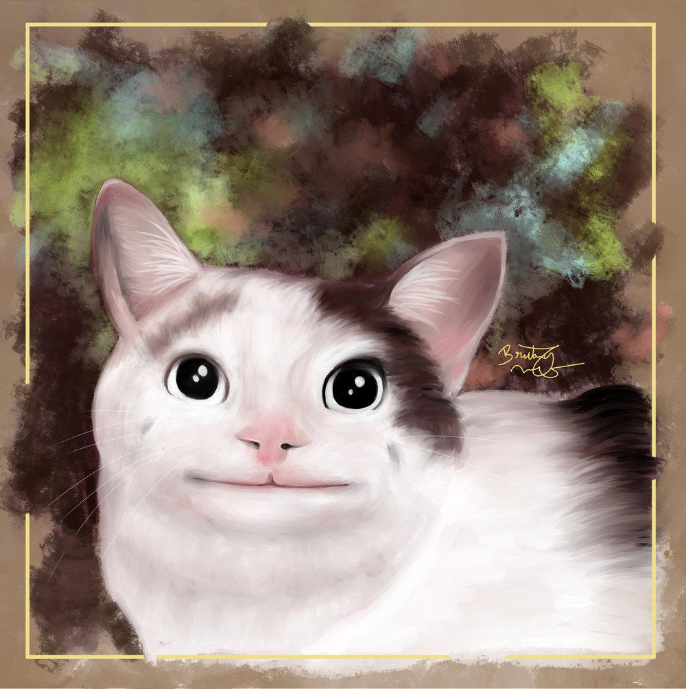 Polite Cat 12x12.jpg