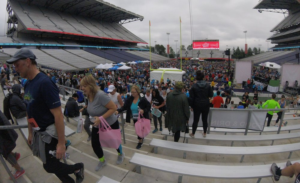 Husky Stadium Packed with Bridgers -