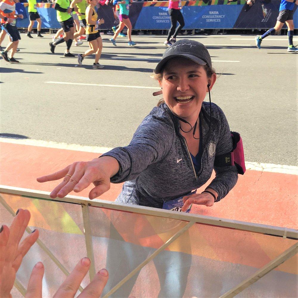 Michaela Rhile:  New York Marathon Finisher