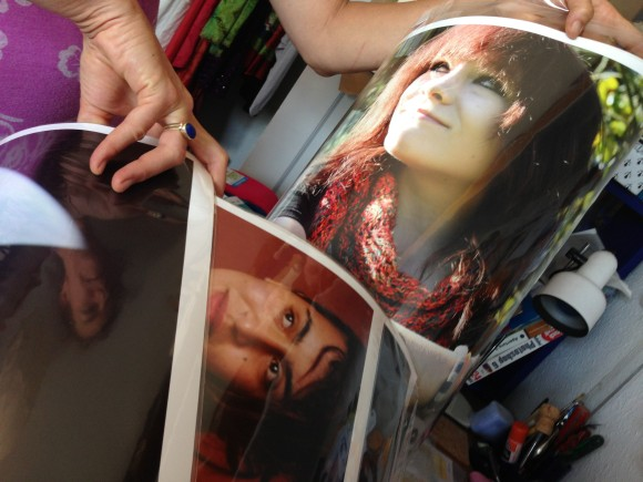 Photographic portraits being prepared to ship of to the National Portrait Gallery Photographic Portrait Competition.