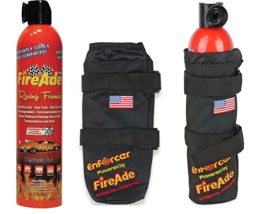 FireAde is a personal fire suppression system designed for easy application and extinguishment of fire using our signature FireAde firefighting foam. This product is perfect for your race car trailer, in car and camper. Win with a Fireade products in your vehicle and get your purchase money back!
