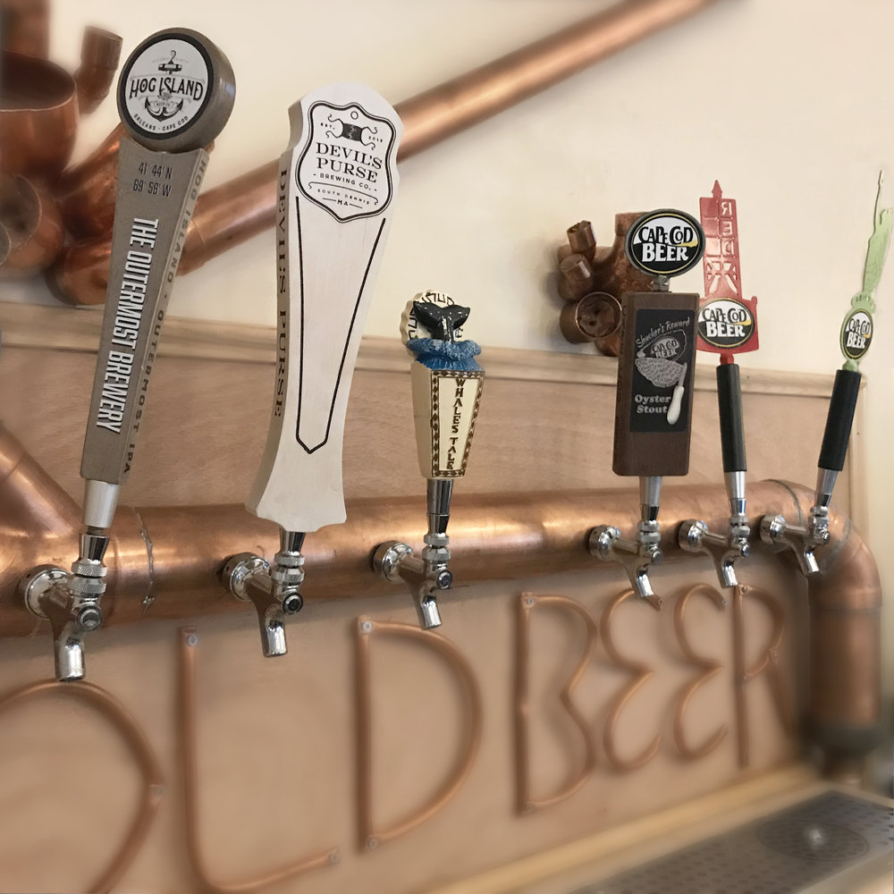 craft on draft - Hog Island, Devil's Purse, Cisco, and Cape Cod brews