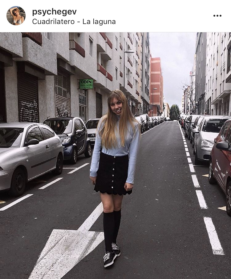 blonde fashion girl on the street