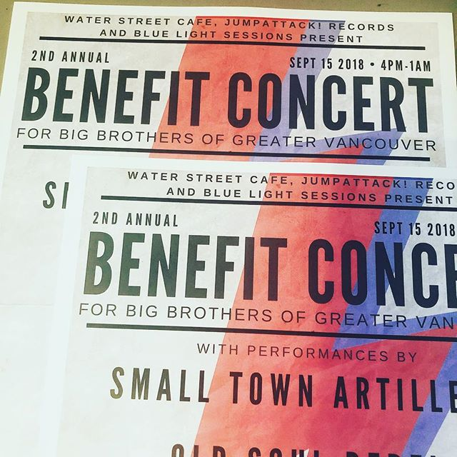 Our 2nd Annual Benefit Concert is tomorrow starting at 4pm! Do you have your tickets?  5 bands Food and drink Silent Auction, 50/50 Games and good people  #itsforthekids @charityforyouth @bigbrothersyvr