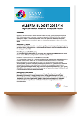 March 2013   2013 ALBERTA BUDGET ANALYSIS