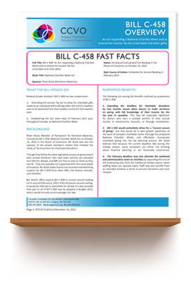 December 2012   IN BRIEF: National Charities Week Act