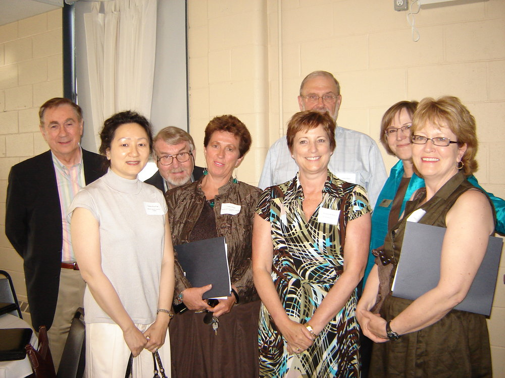 Bob Pynn, Theresa Woo-Paw, Chris Harris, Cathy Pearl, Greer Black, Andrea McManus, Katherine van Kooy and Penny Hume at CCVO 2007 AGM.jpg