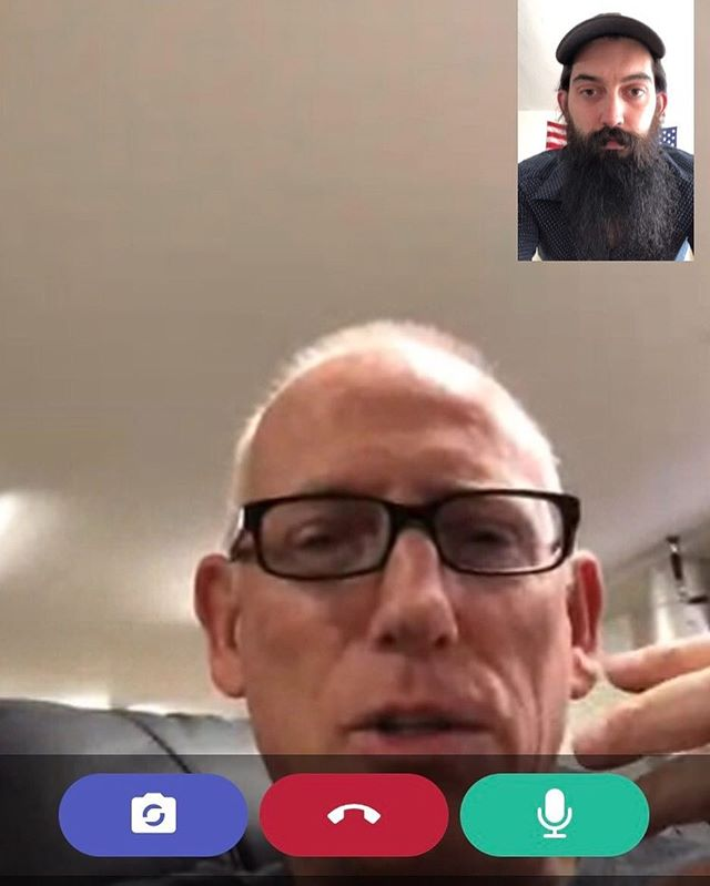Video chatting with @scottadams925 on his new advice and coaching app @whenhub  Genius way to get questions from influencers answered one on one fast!  Win bigly!