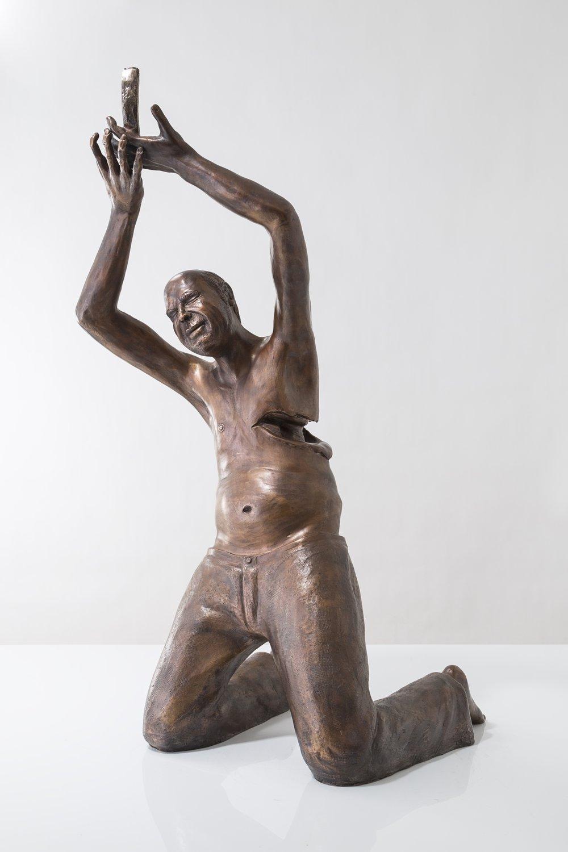 God I Need a Girlfriend  Bronze  Brooklyn, 2014  84cm x 38cm x 31cm