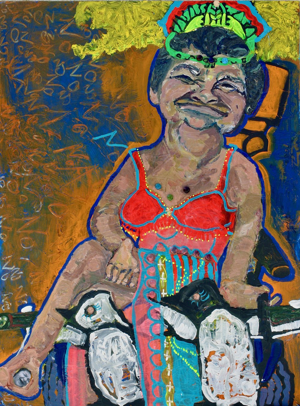Queen Pleytez, acrylic on panel, 48x60 inches, 2013.jpeg