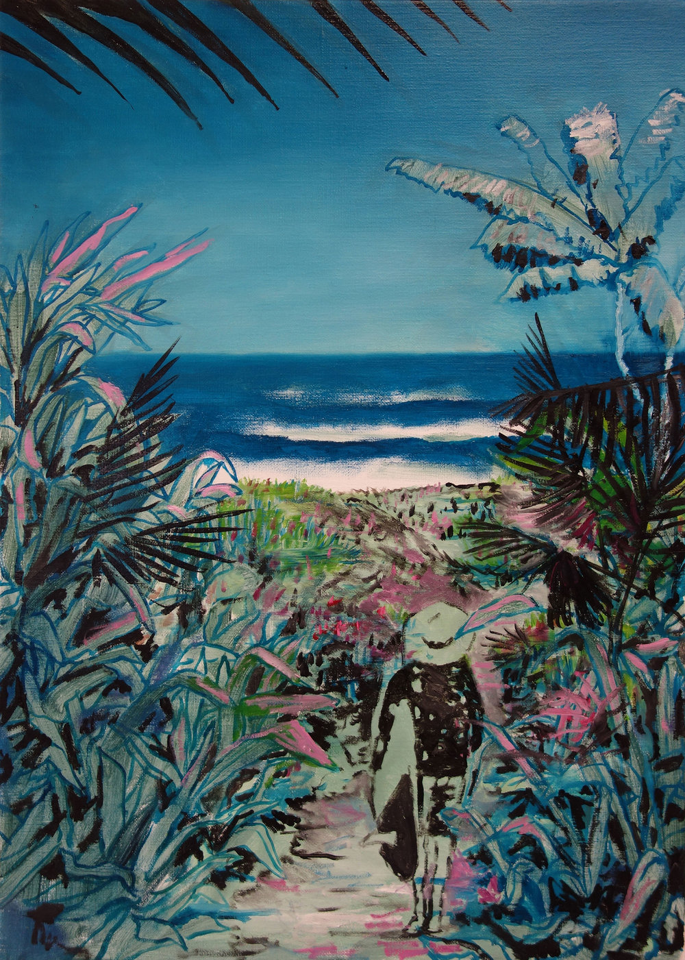 To the waves (in private collection)