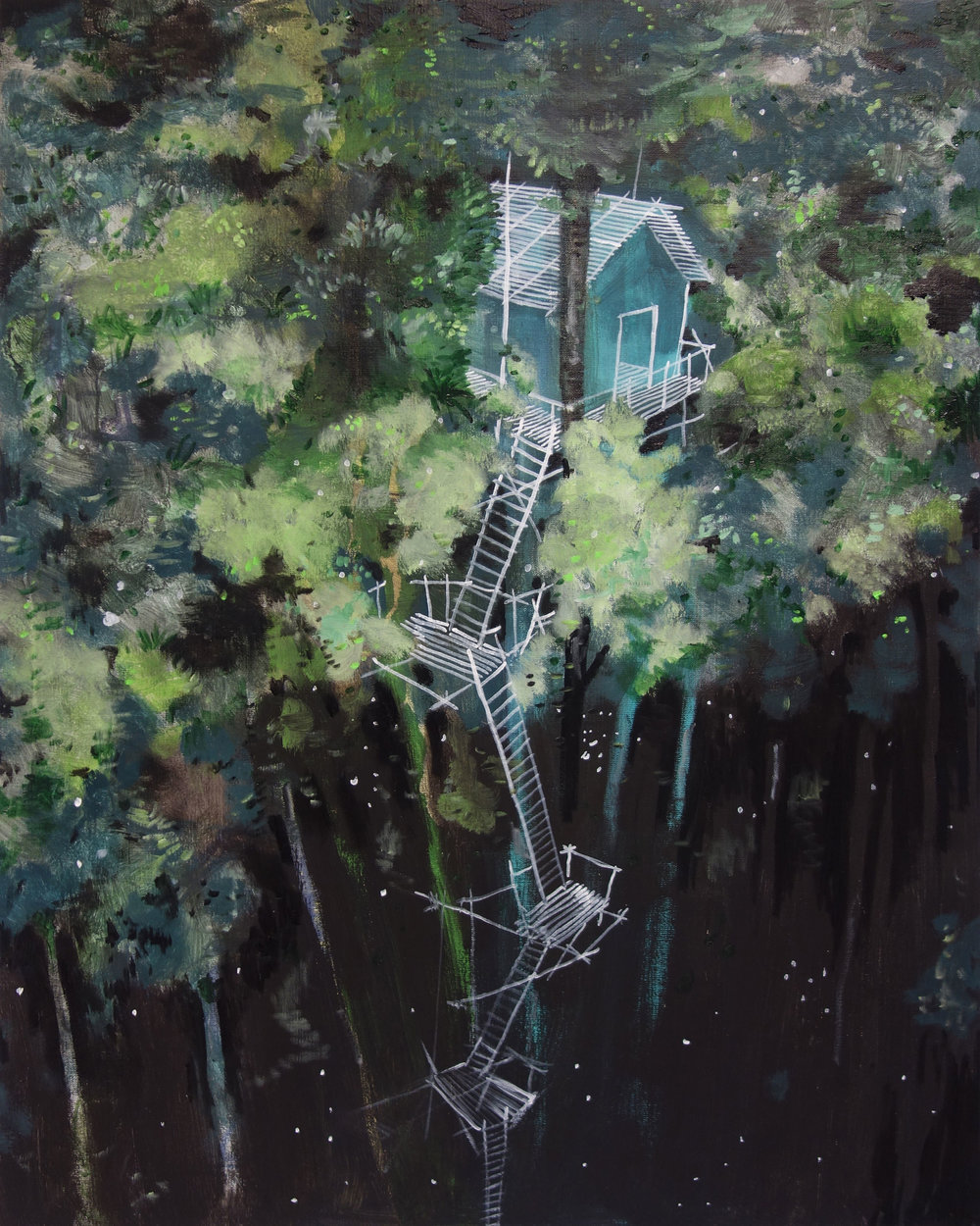 Up in the trees (in private collection)