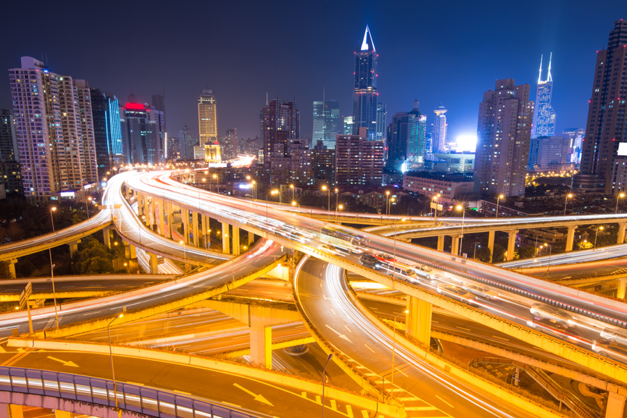 China is synonymous with rapid urbanization. Shanghai at night. (Shutterstock)